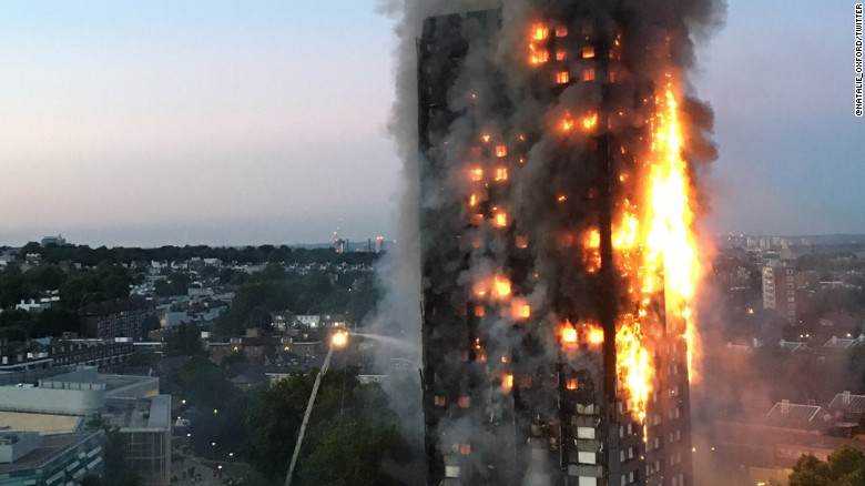 Grenfell Tower London incendio