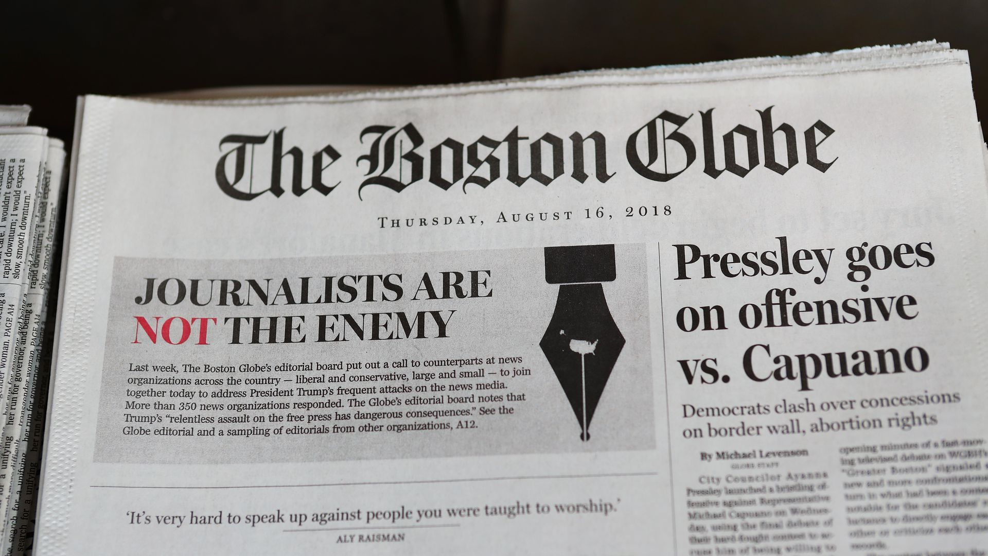 The Boston Globe editorial ago 2018